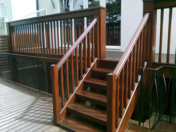 Example of wood stained deck