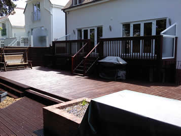 Example of stained deck